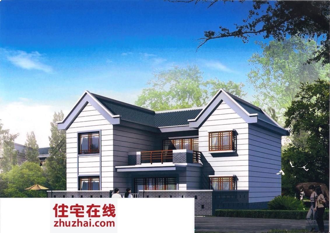 【二层】带庭院自建别墅设计全套施工图