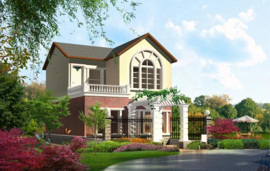 【二层】带车库自建别墅设计全套施工图