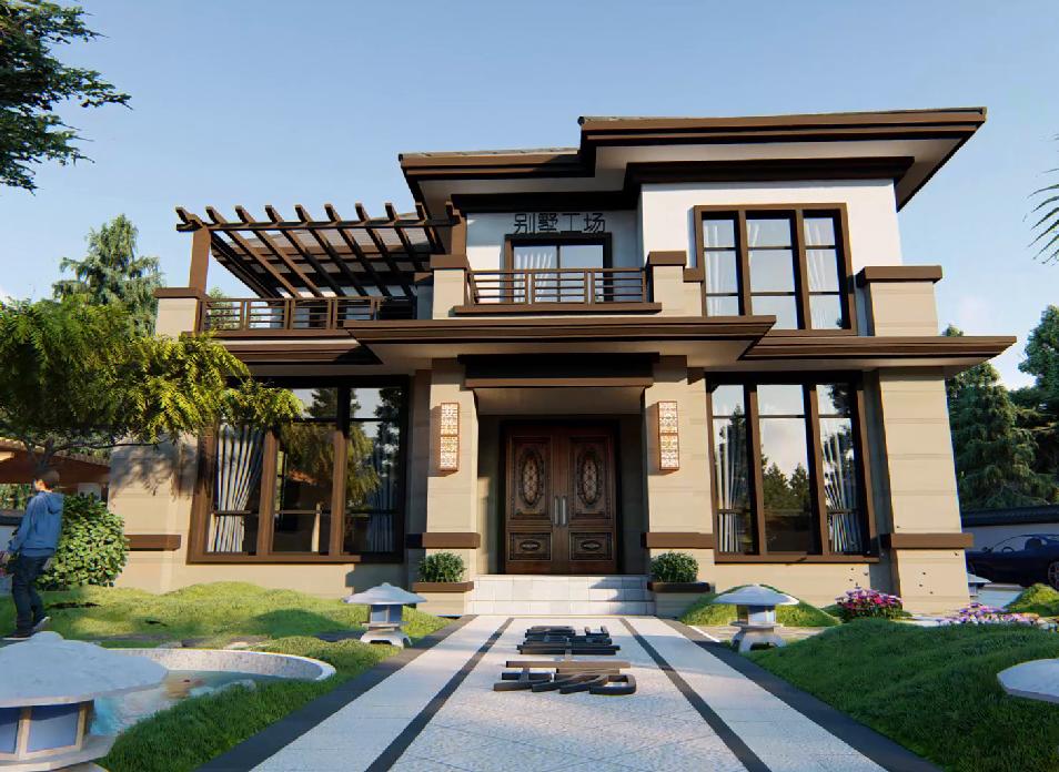 中式二层别墅设计图