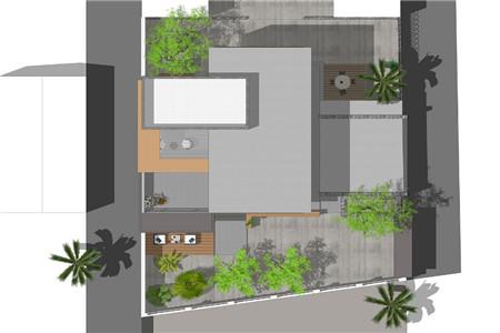 两层现代别墅俯视图
