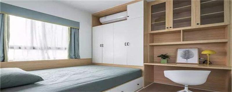 墙上有空调怎么做衣柜