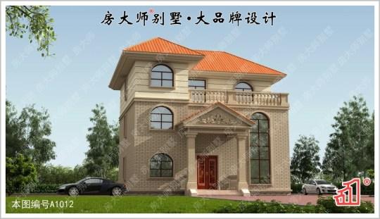 【8室3厅】三层欧式别墅图纸 占地13x13.3
