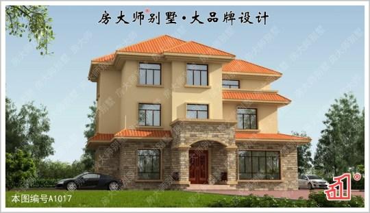 【多层次】三层超多卧室欧式别墅图纸 占地16x16