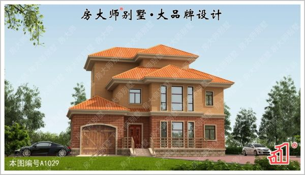 【六口之家】三层欧式别墅图纸 占地16.8x13.3