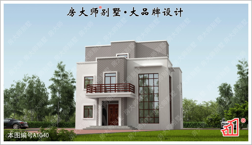 """现代三层别墅设计图"""""""