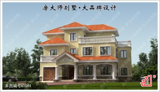 【层楼叠榭】三层7室3厅欧式别墅图纸 占地18.6x14.4