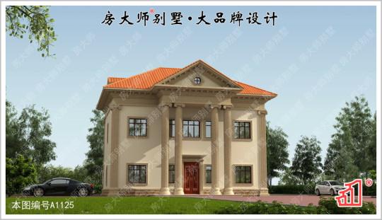 【宫殿风格】气势磅礴二层10室4厅欧式别墅图纸 占地14x13.4