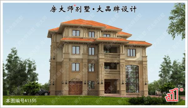 【高采光大空间】四层14室5厅欧式别墅图纸 占地21.9x12.9