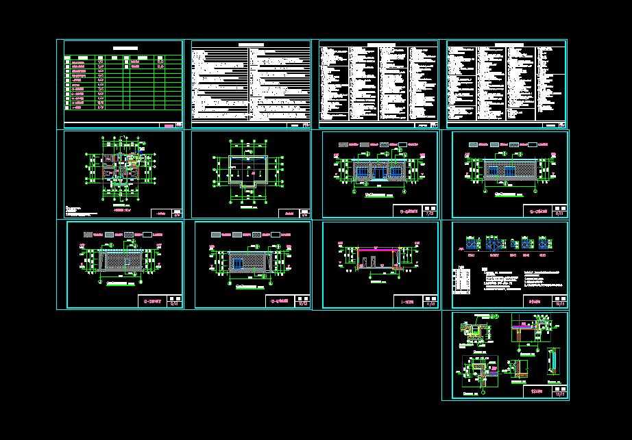 欧式一层别墅设计图施工图