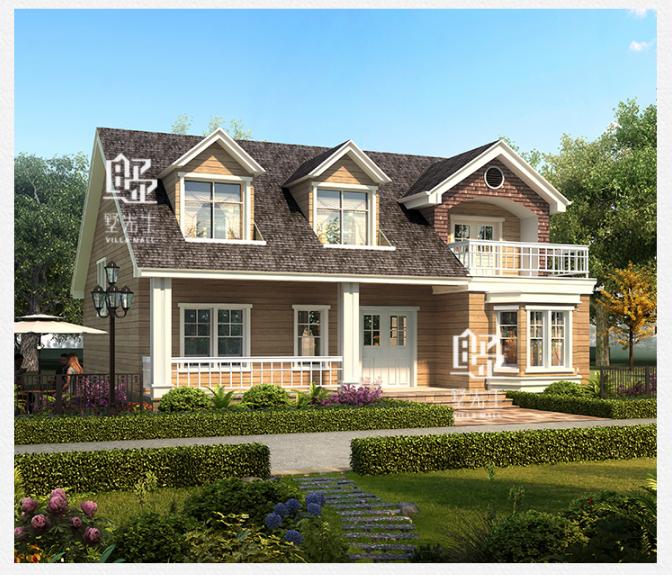 美式二层别墅设计图效果图