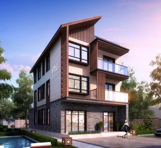 适用门面窄的8x16风格创新三层设计图