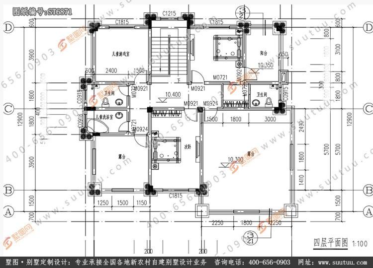 欧式四层别墅设计图施工图
