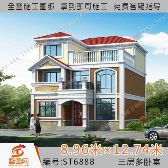 9x13三层简欧风格自建别墅设计全套施工图