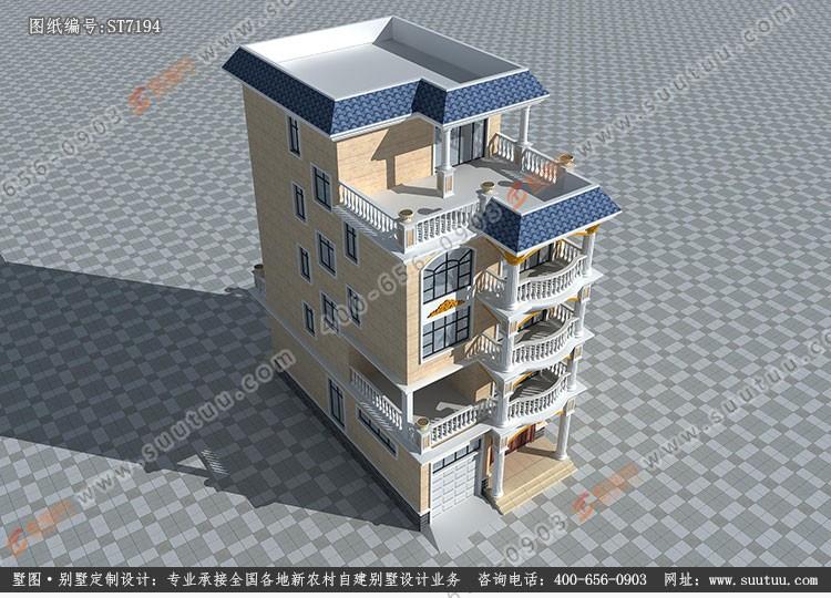 現代五層別墅設計圖效果圖