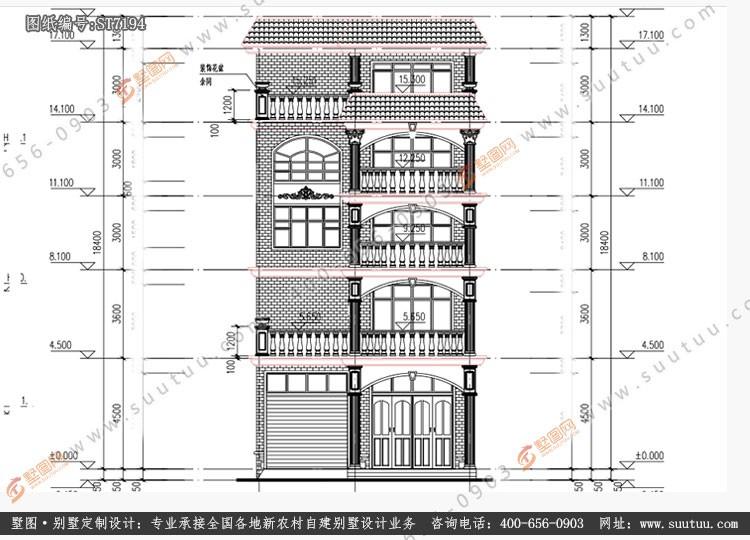 現代五層別墅設計圖施工圖