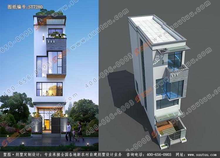 現代四層別墅設計圖效果圖