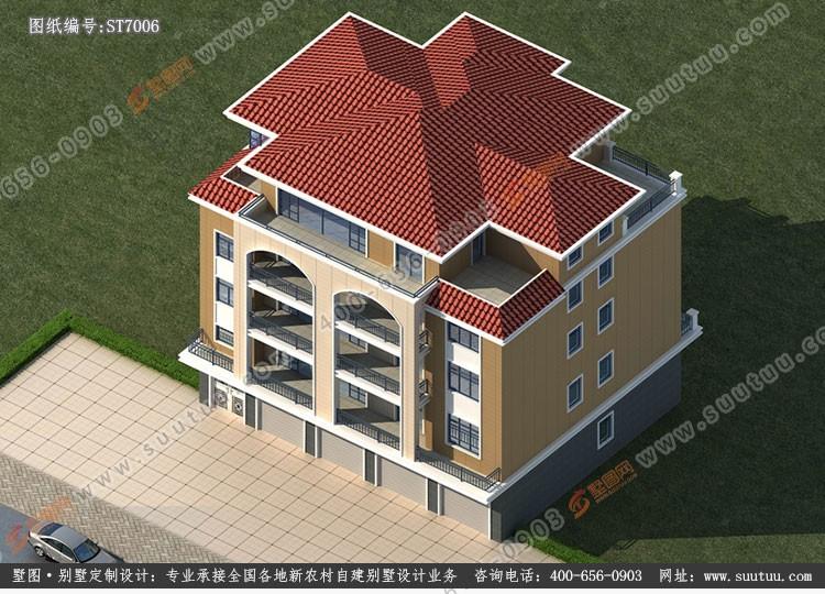 现代五层别墅设计图效果图