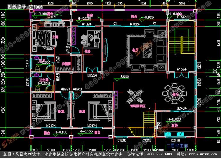 现代五层别墅设计图平面图