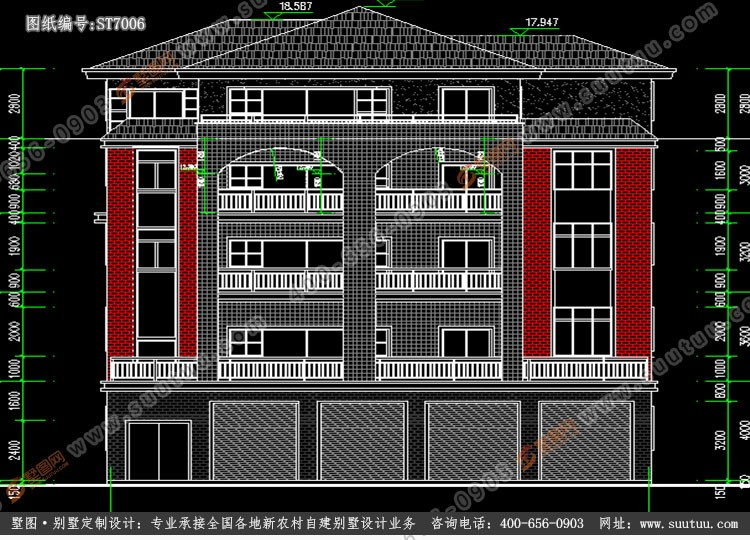 现代五层别墅设计图施工图