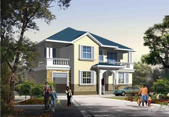 占地14x11二层带车库自建别墅设计全套施工图
