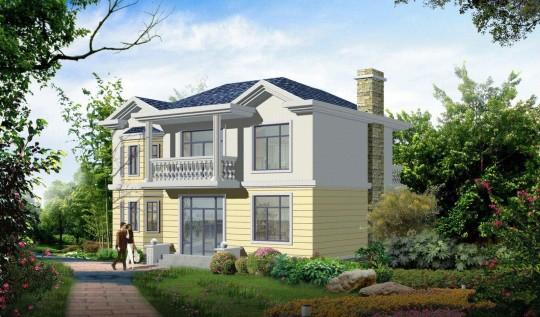 占地12x9二层现代风格自建别墅设计全套施工图