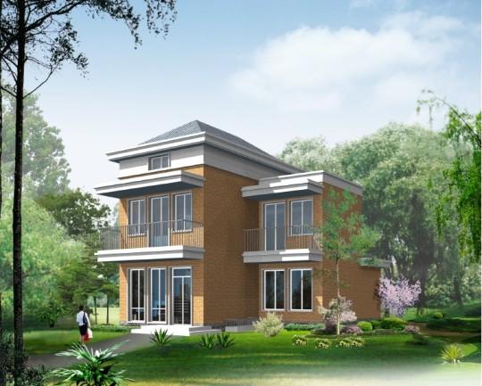 占地8x11二层带阳台自建别墅设计全套施工图