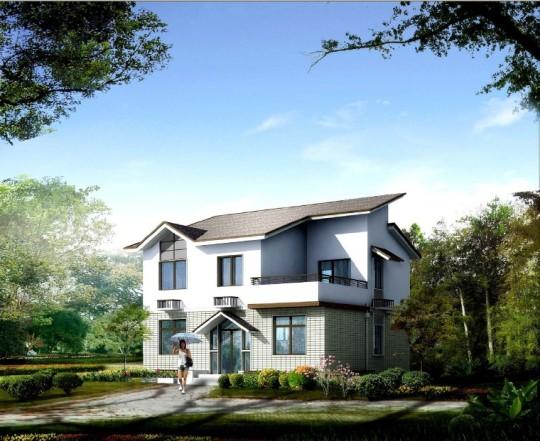 占地10x9二层带露台自建别墅设计全套施工图