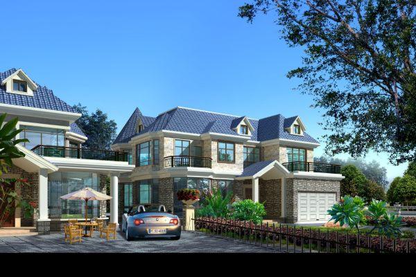 占地18x16二层带露台自建别墅设计全套施工图