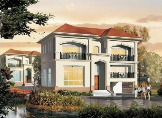 占地11x9二层带车库自建别墅设计全套施工图