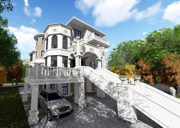 占地14x19四层带露台自建别墅设计全套施工图