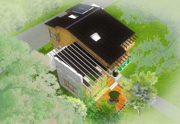 占地25x25二层自建农庄别墅设计全套施工图