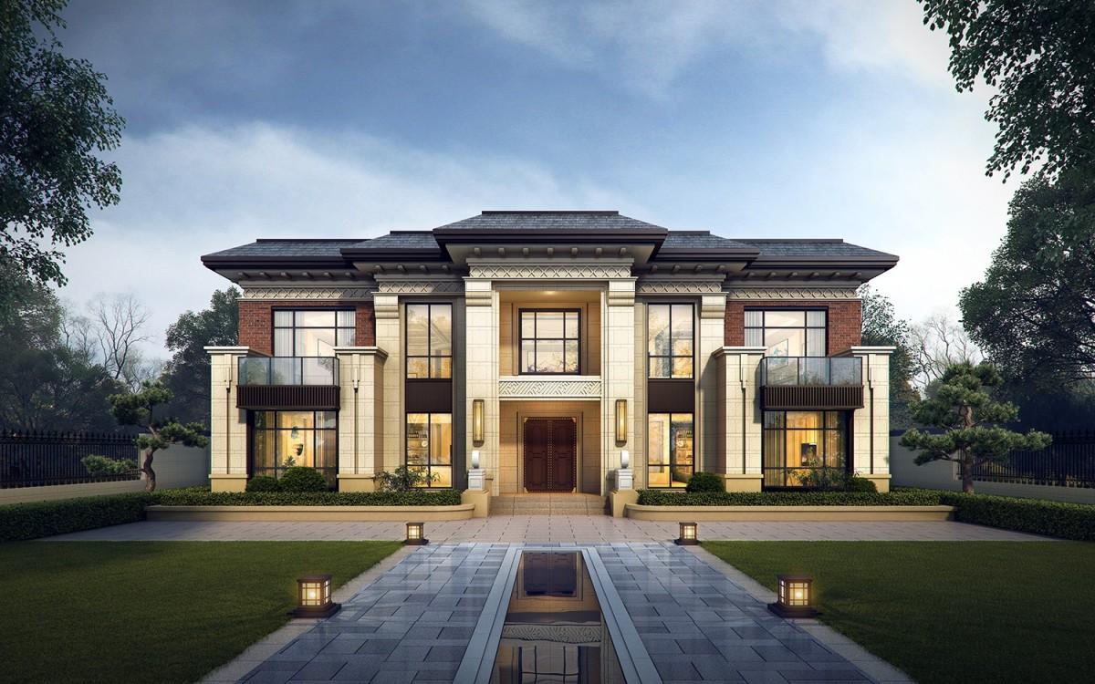 占地20x12二层新中式自建别墅设计全套施工图