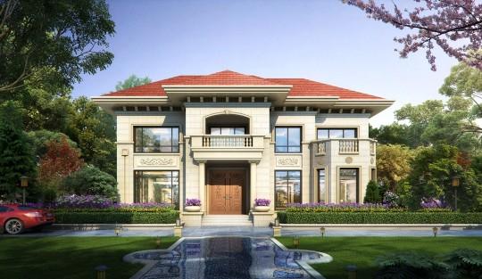占地16x13二层带露台自建别墅设计全套施工图