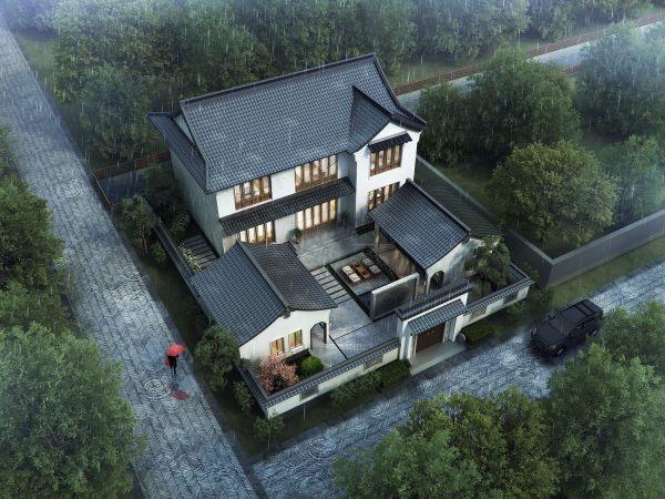 占地20x23二层带庭院自建别墅设计全套施工图