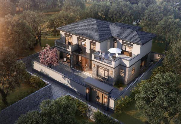 占地17x13二层带露台自建别墅设计全套施工图