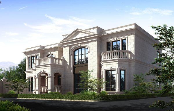 占地21x12二层带露台自建别墅设计全套施工图