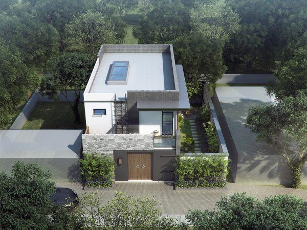 占地12x5二层带庭院自建别墅设计全套施工图