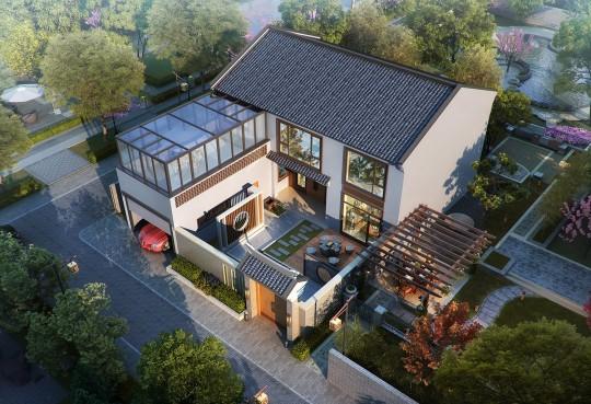 占地14x18二层带庭院自建别墅设计全套施工图