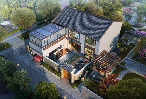 占地14x18二層帶庭院自建別墅設計全套施工圖