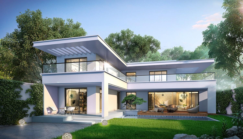 二层别墅图纸效果图_占地17x16二层带连廊自建别墅设计全套施工图 - 住宅在线