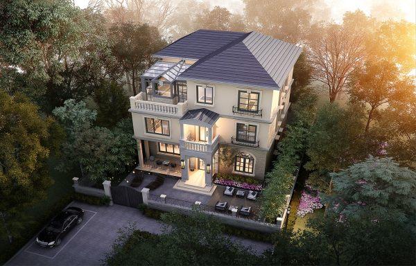 占地12x11三层带庭院车库自建别墅设计全套施工图