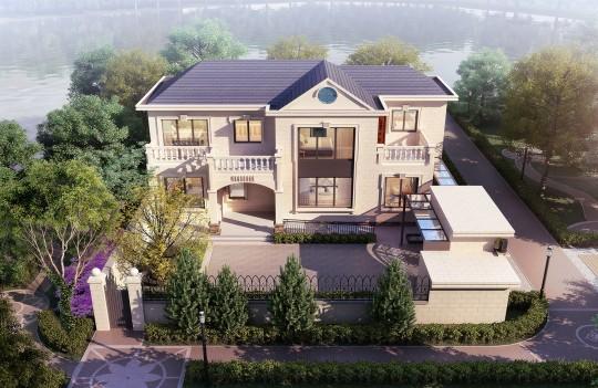 占地15x8二层带庭院露台自建别墅设计全套施工图