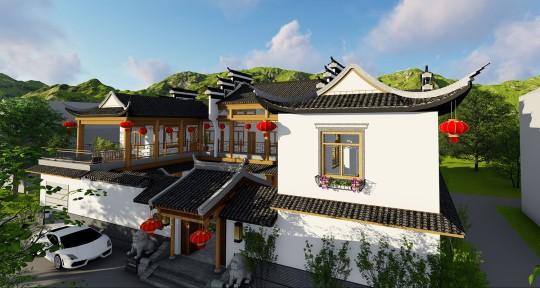占地25x15二层带中庭自建别墅设计全套施工图
