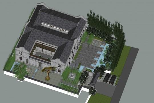 占地20x27二层带庭院自建别墅设计全套施工图