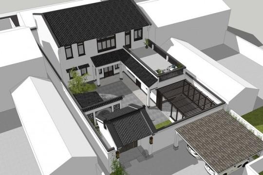 占地14x19二层带露台自建别墅设计全套施工图