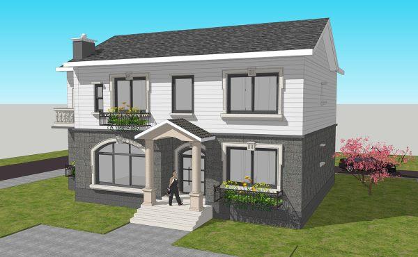 占地15x12二层自建别墅设计全套施工图