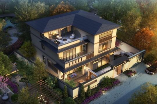 占地14x13三层带庭院露台自建别墅设计全套施工图