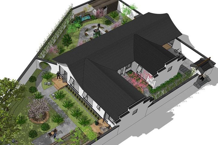 """中式一层别墅设计图"""""""