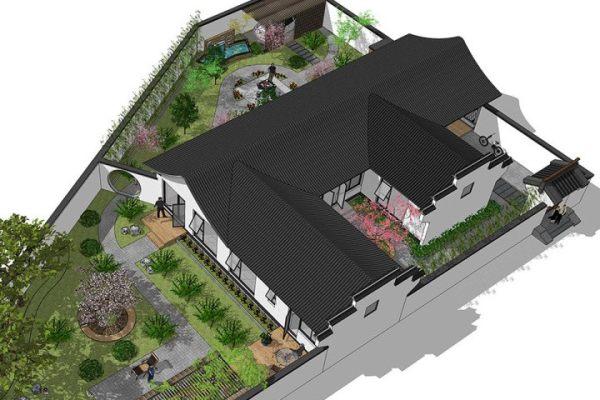 占地39x28层自建带庭院别墅设计全套施工图