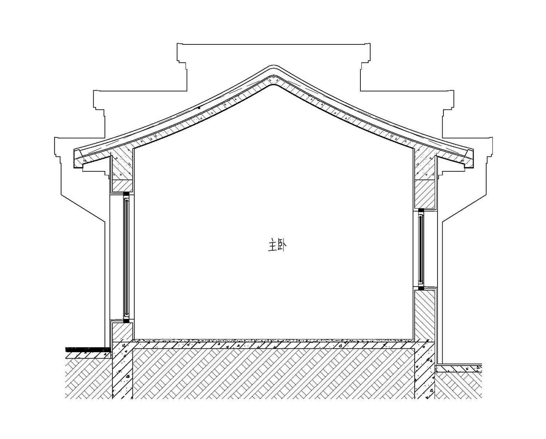 中式一层别墅设计图施工图